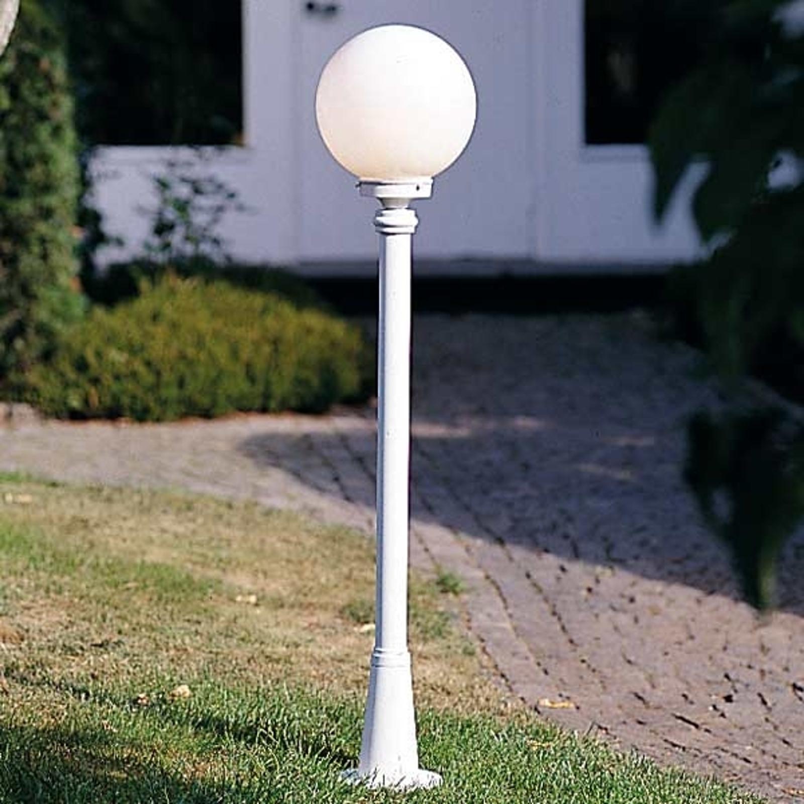 Piękny słupek oświetleniowy Arcturus, biały