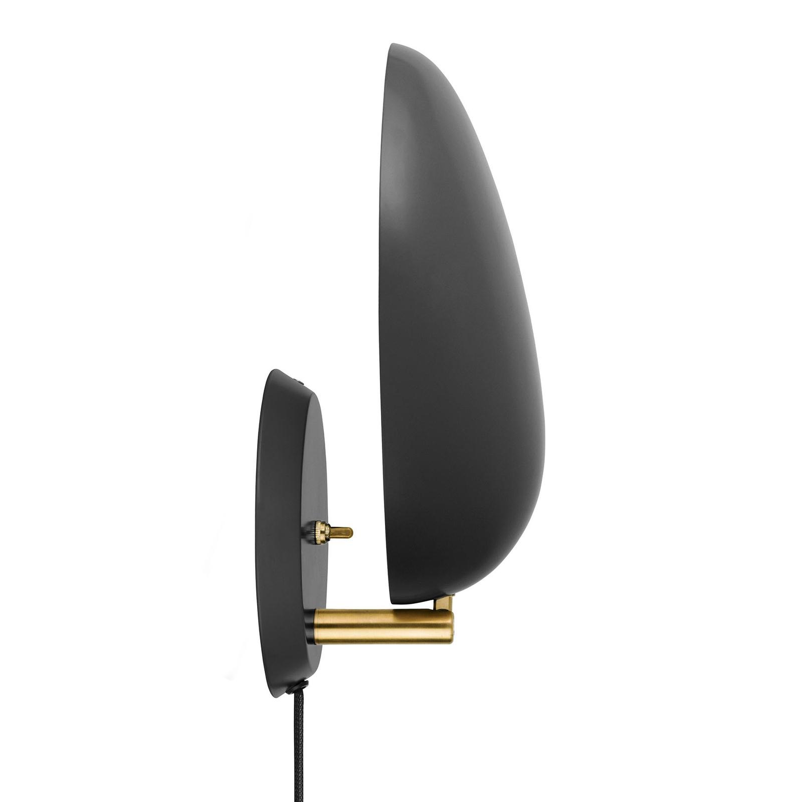 GUBI Cobra designer-vegglampe, svart, med plugg