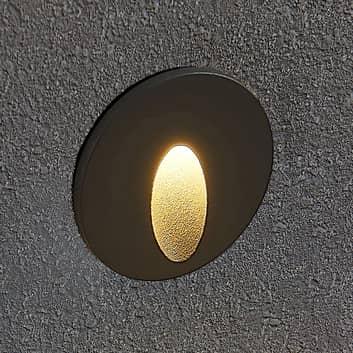 Lucande Finnleya LED innfelt vegglampe, rund