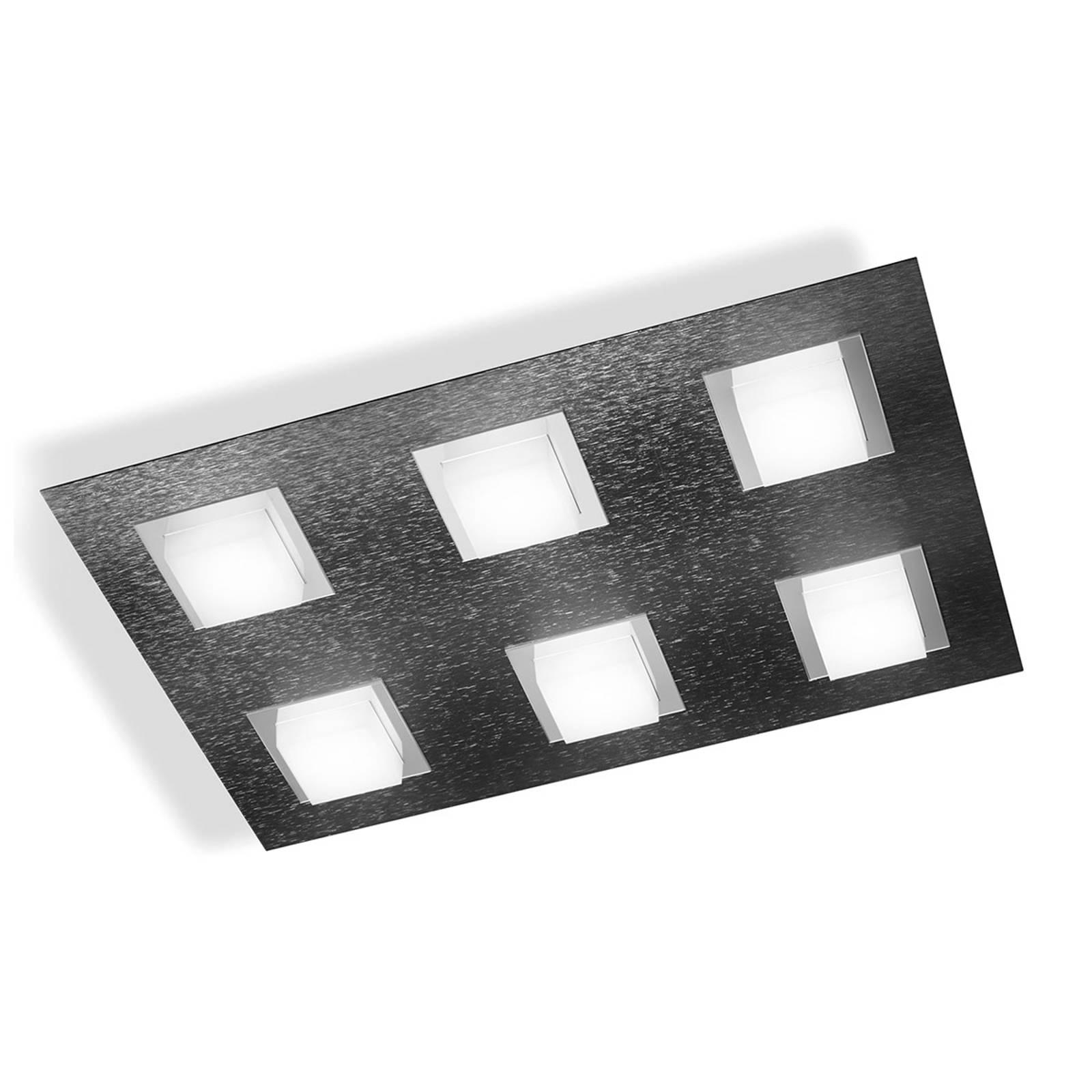 GROSSMANN Basic lampa sufitowa LED 6-pkt. antracyt