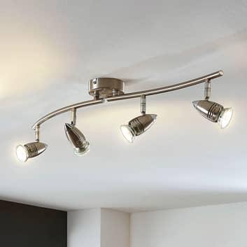 LED-takspotlight Benina, 4 lampor