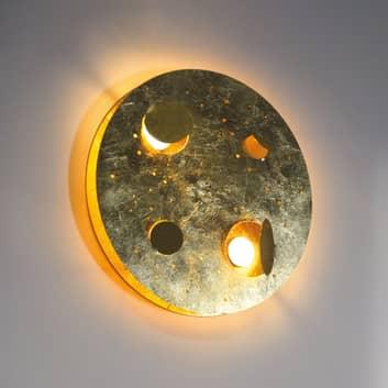 Knikerboker Buchi LED-vegglampe Ø 40 cm bladgull