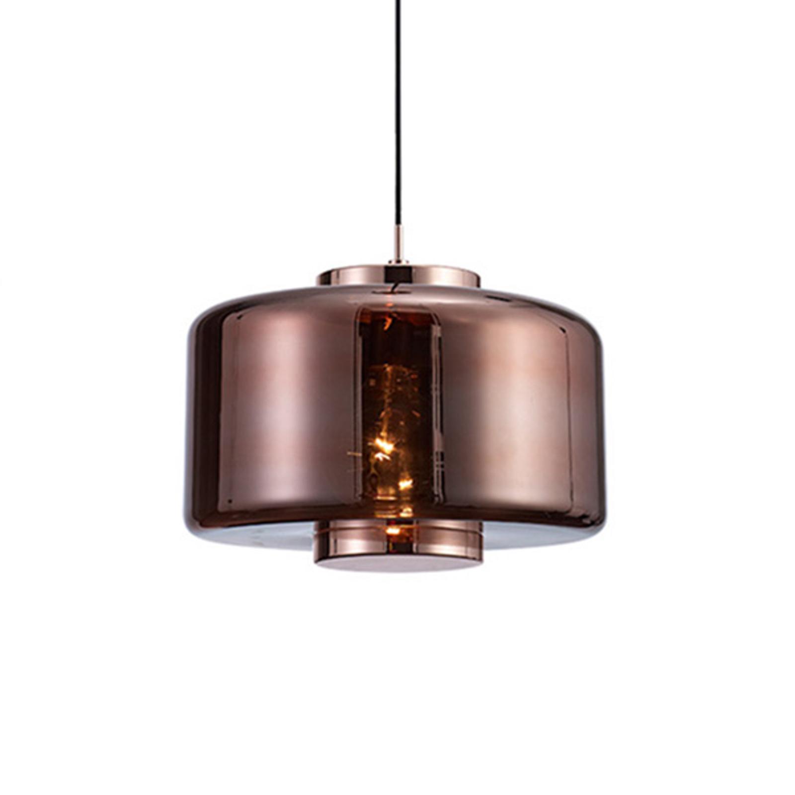 Lampada di vetro Jarras Ø 40 cm, rame