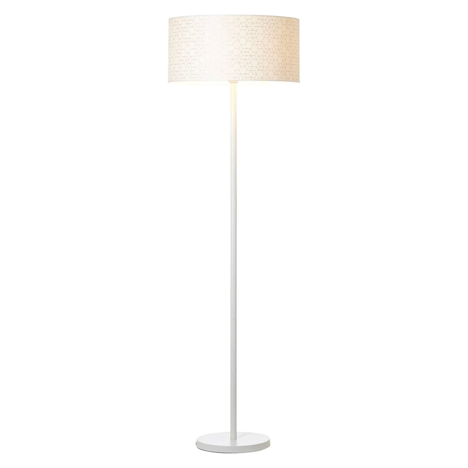 Lampadaire Galance, blanc avec pied en métal