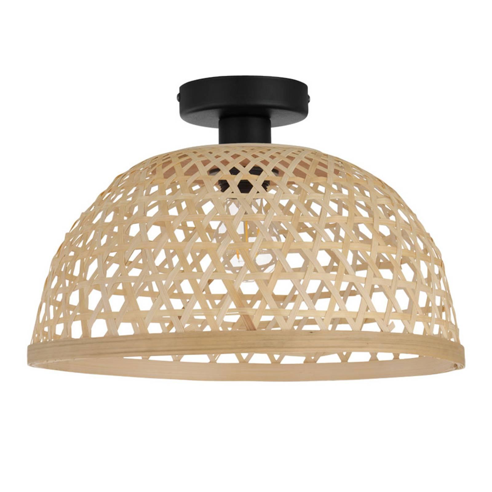 Lampa sufitowa Claverdon z plecionym kloszem