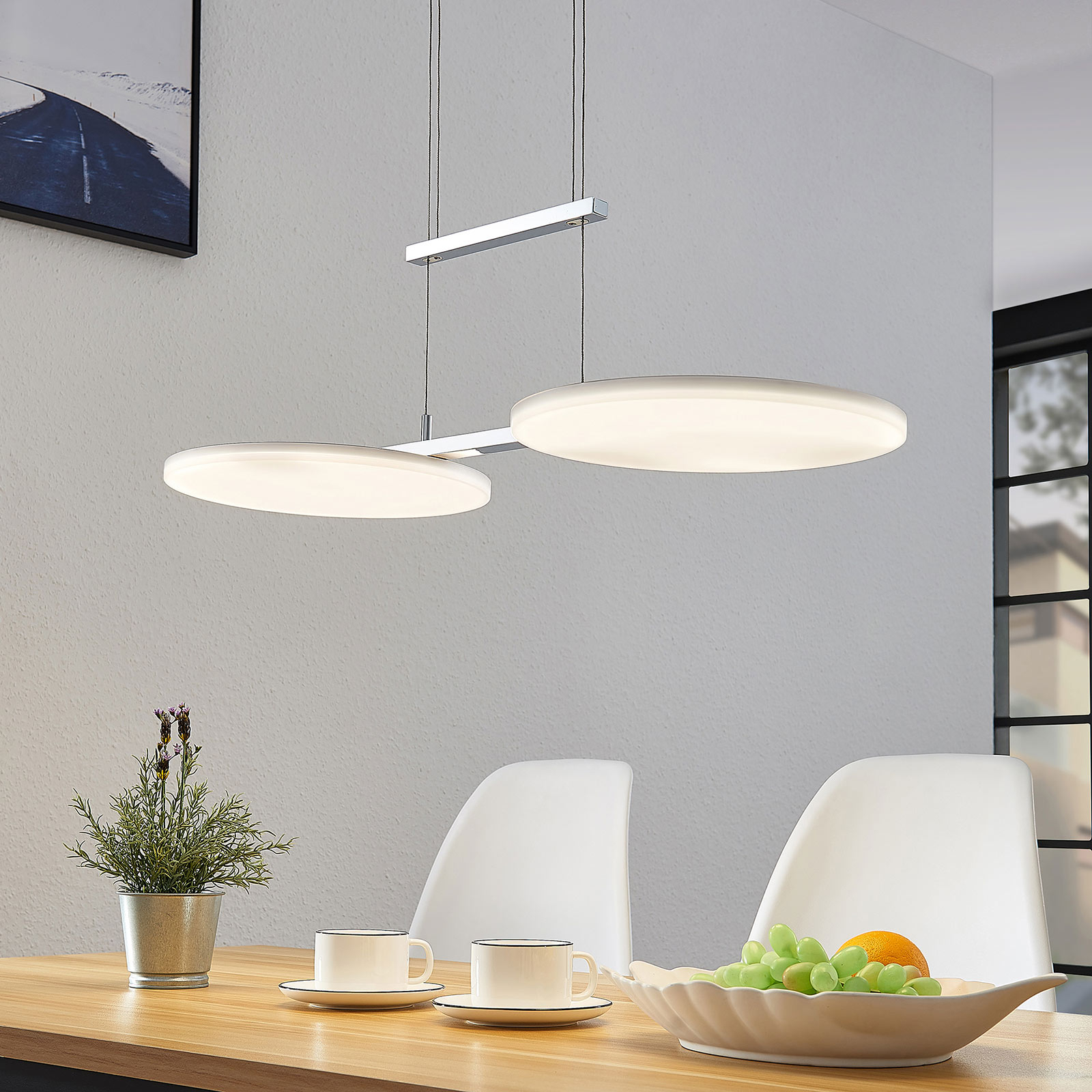 Lampa wisząca LED Sherko, regulowana, 2-punktowa