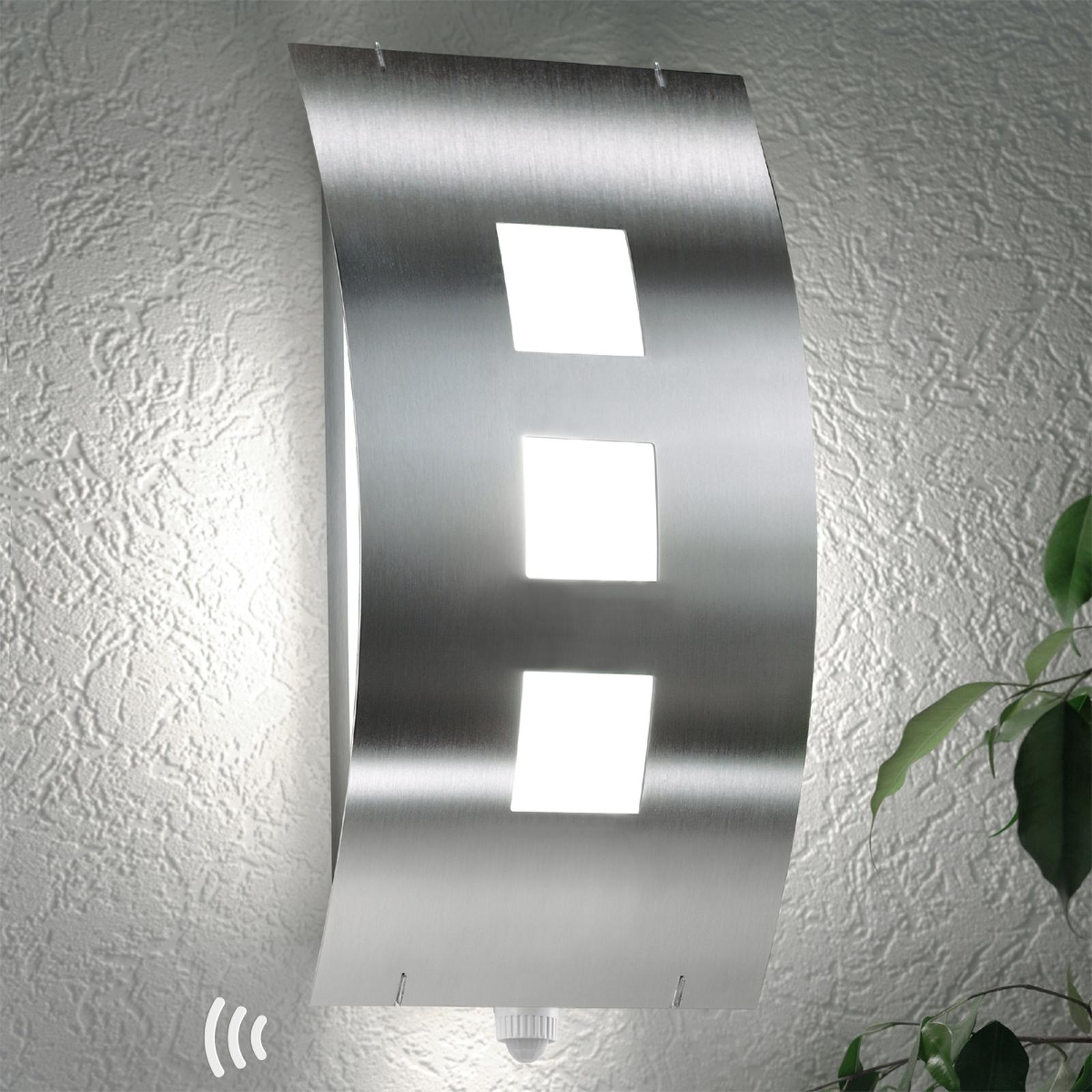 Pregiata lampada parete esterni Toma, con sensore