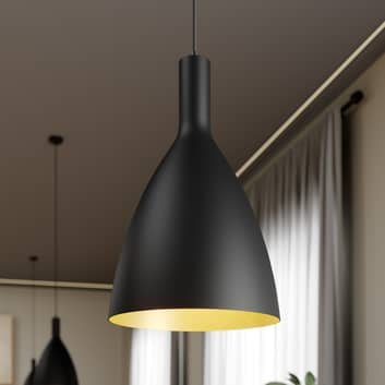Arcchio Arthuria hanglamp, 1-lamp zwart
