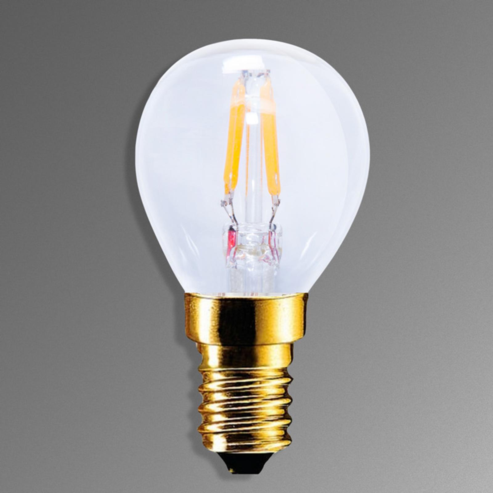 E14 2,2W 922 LED-stearinljuslampa i koltrådsoptik