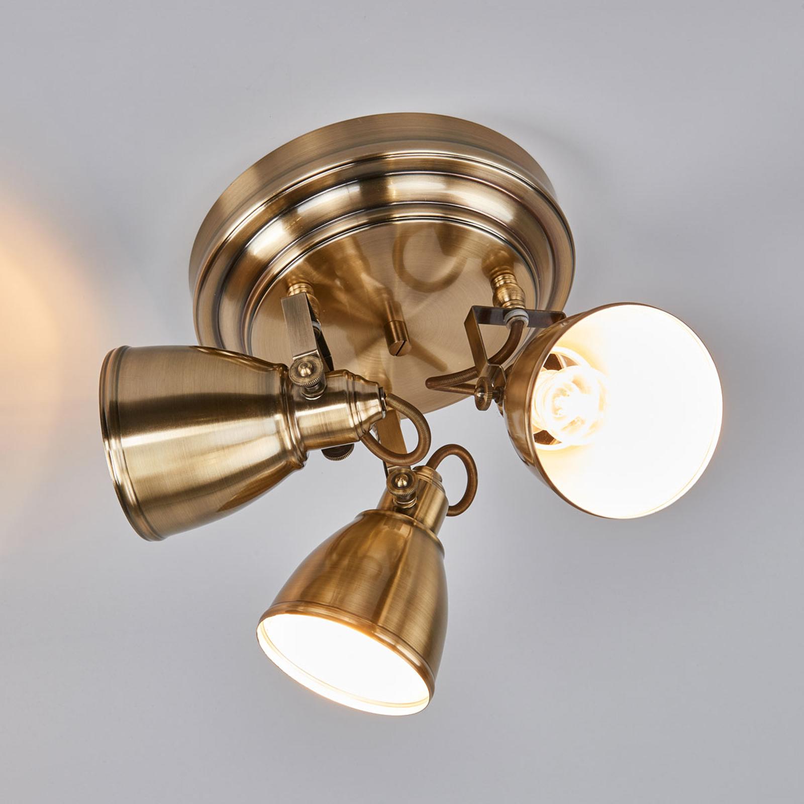 Antycznie wyglądająca lampa sufitowa FJÄLLBACKA