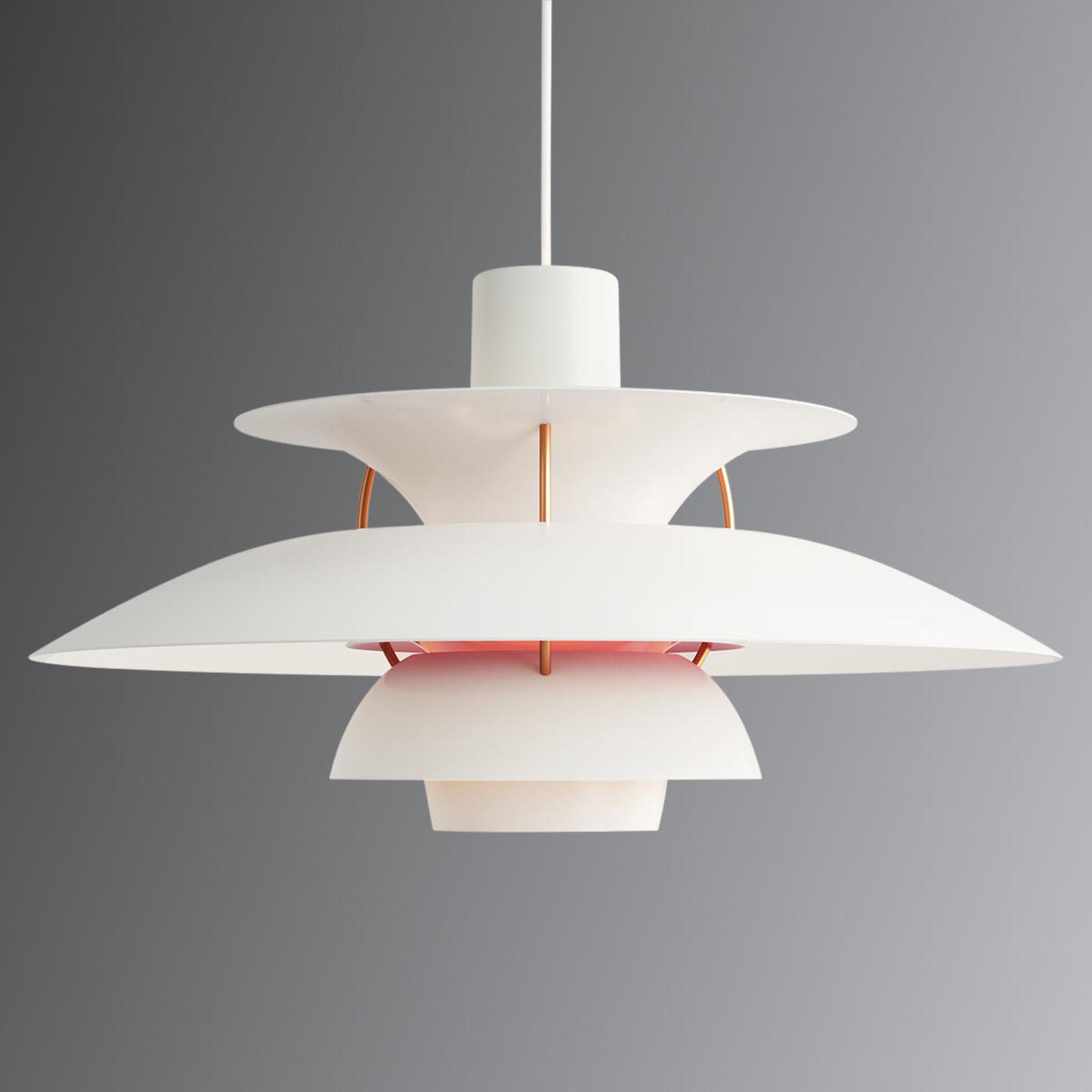 Deense designer hanglamp PH 5, wit