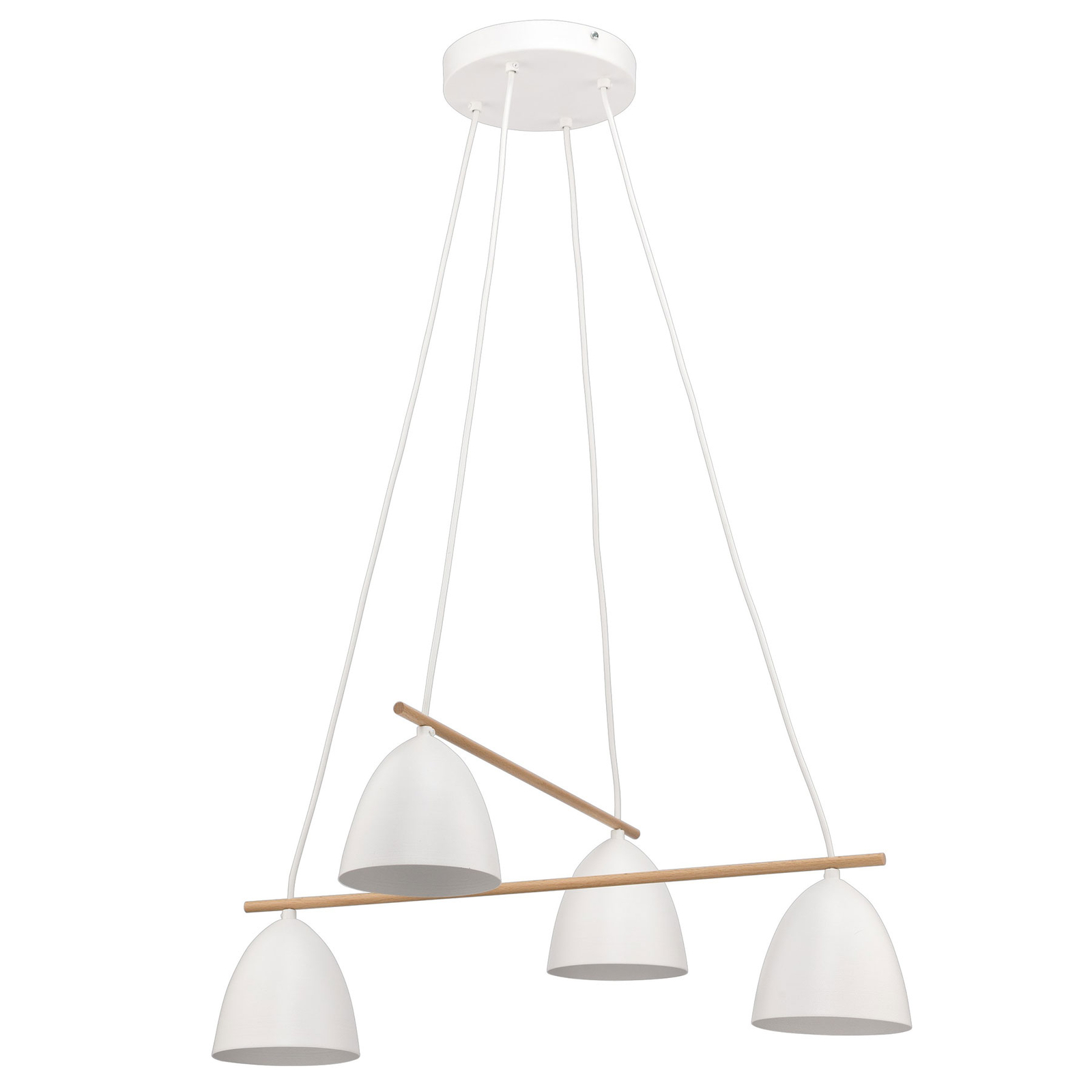 Lampa wisząca Aida, 4-punktowa, biała