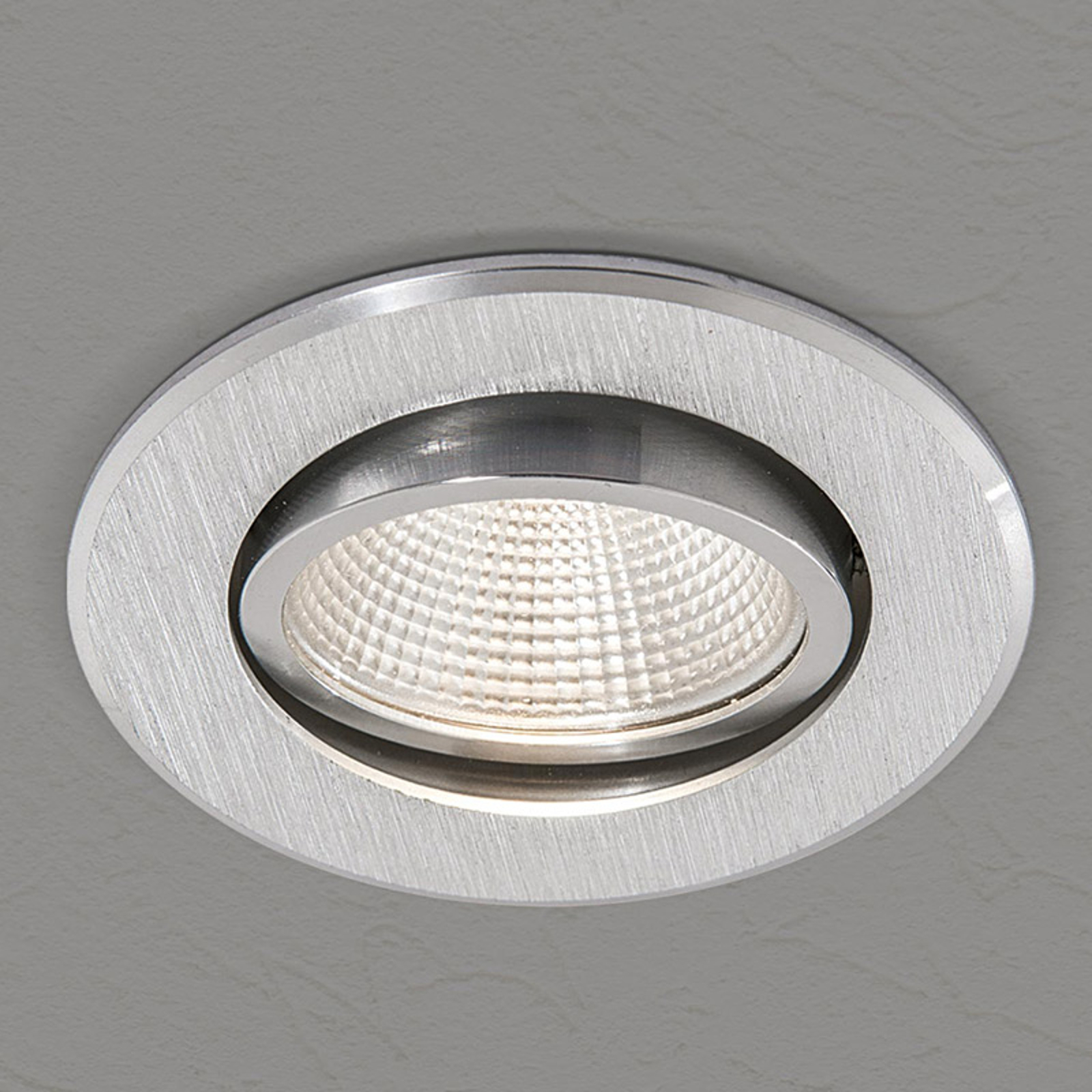Plafonnier encastrable LED Sabet, rond
