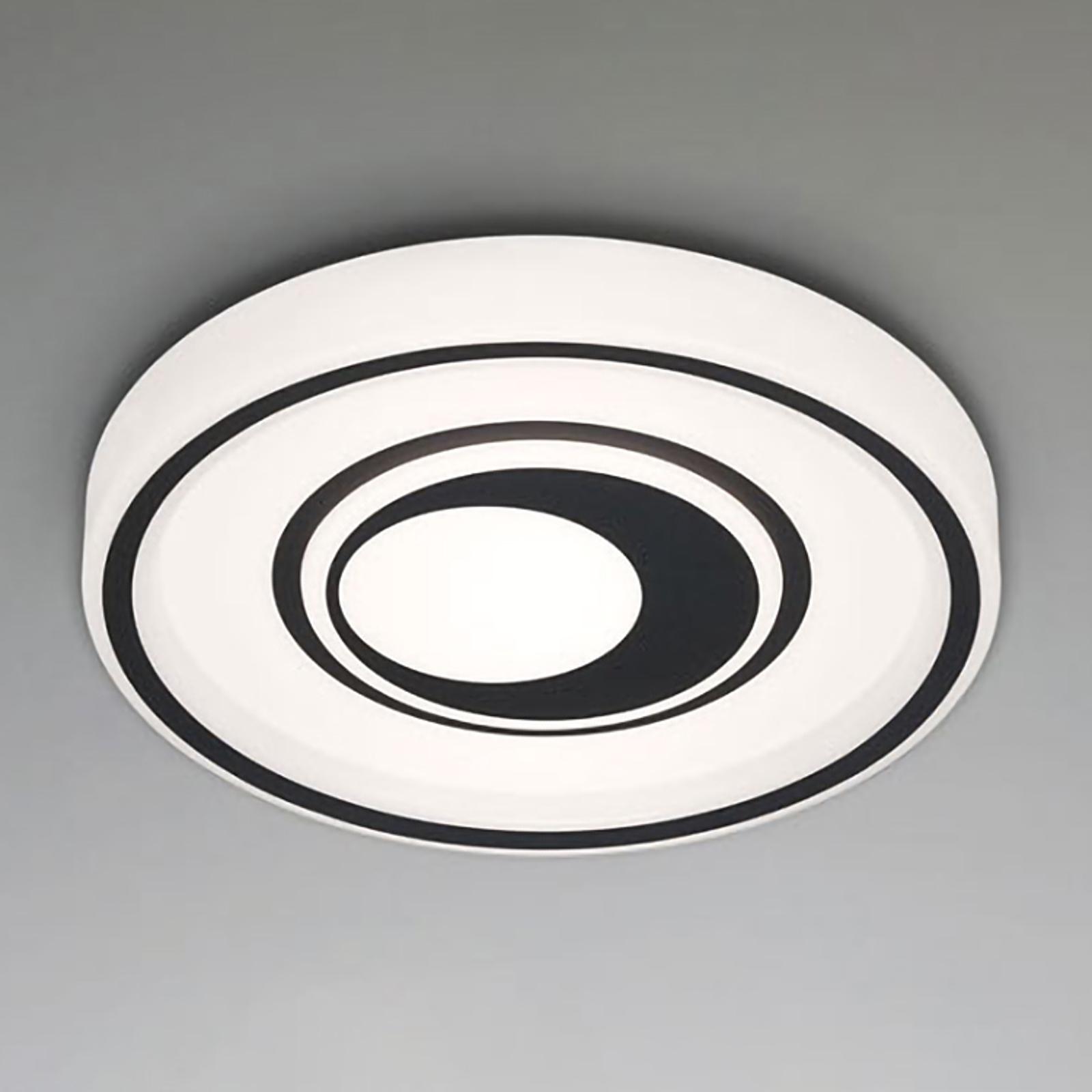 LED-taklampe Rondo L, fjernkontroll, svart