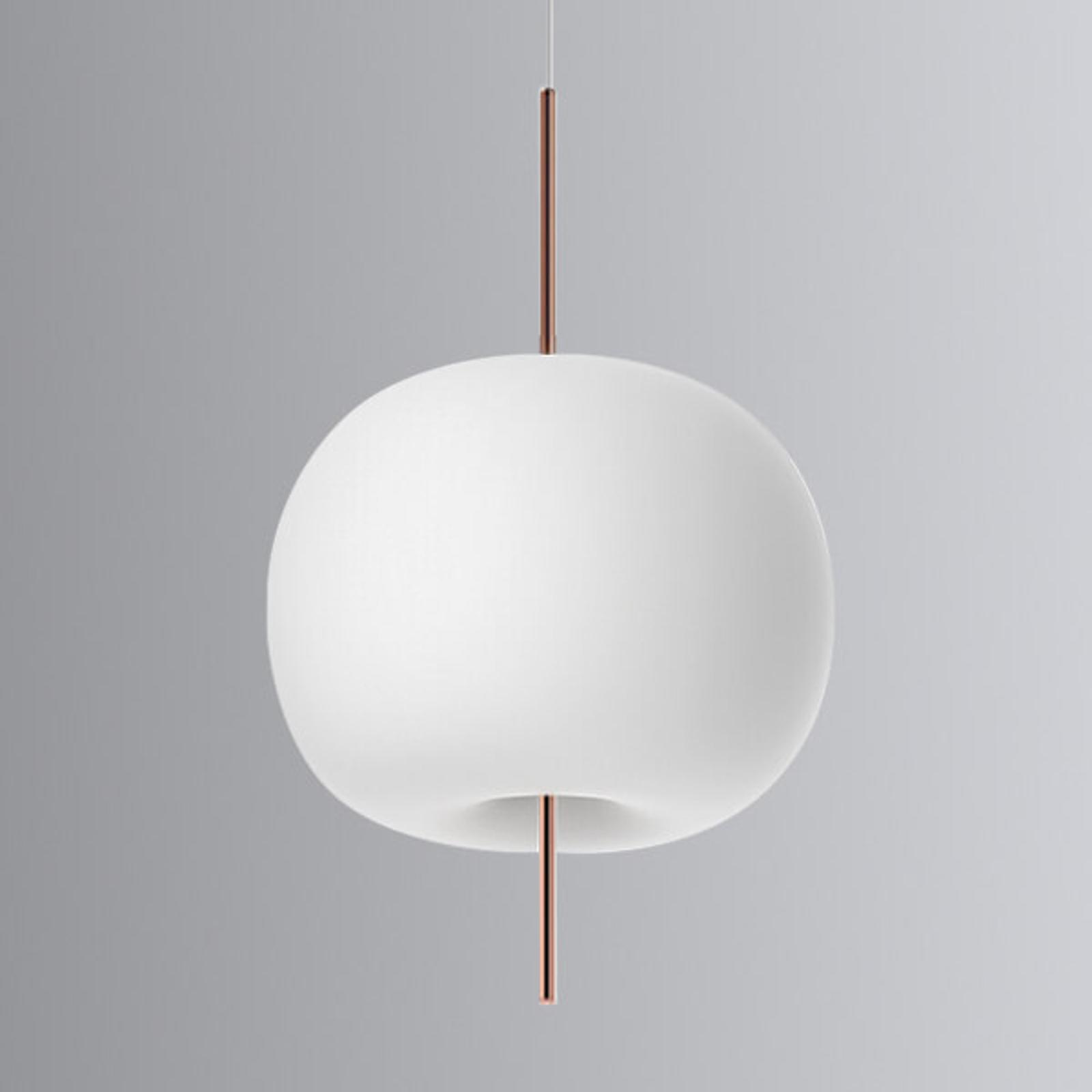Lampa wisząca LED Kushi, miedziany pręt 33