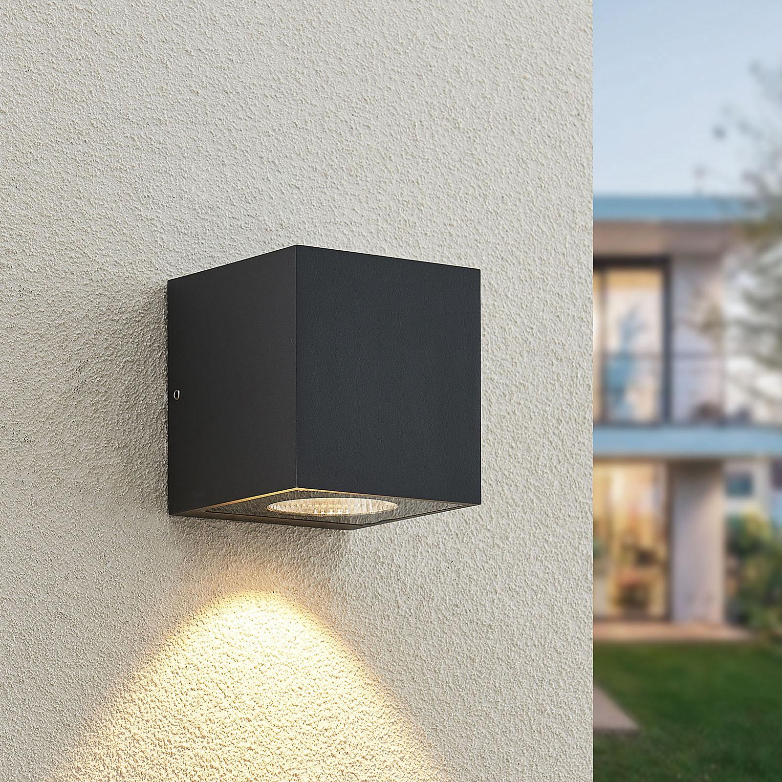 Arcchio Tassnim udendørs LED-væglampe grafit 1 lk.