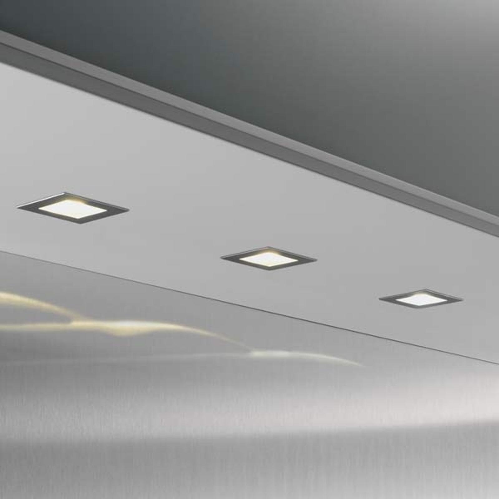 3-er Set Cubic 68 eckige LED-Einbauleuchte 2700 K