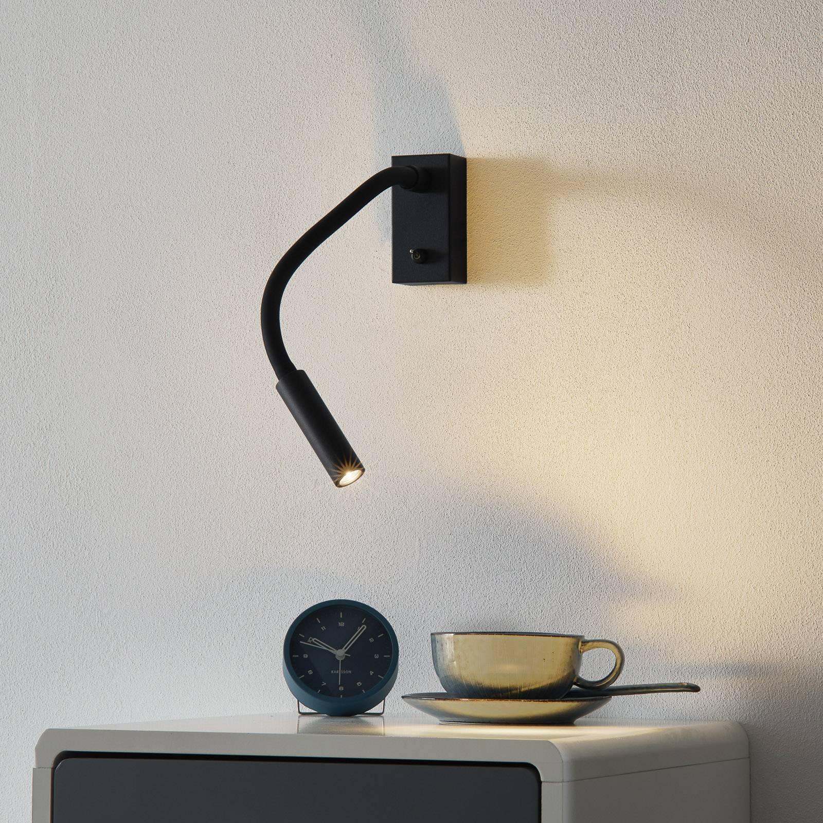 Met schakelaar - LED wandlamp Cio met leesarm