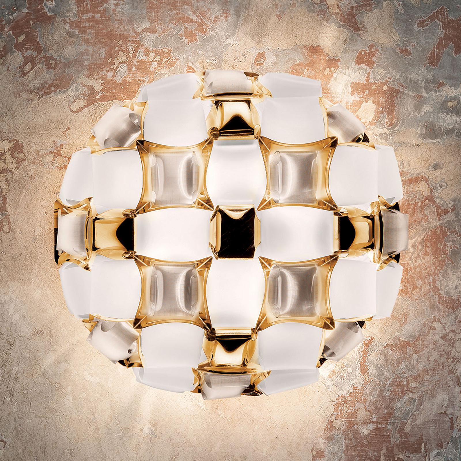 Slamp Mida aplique, 50 cm, blanco-oro