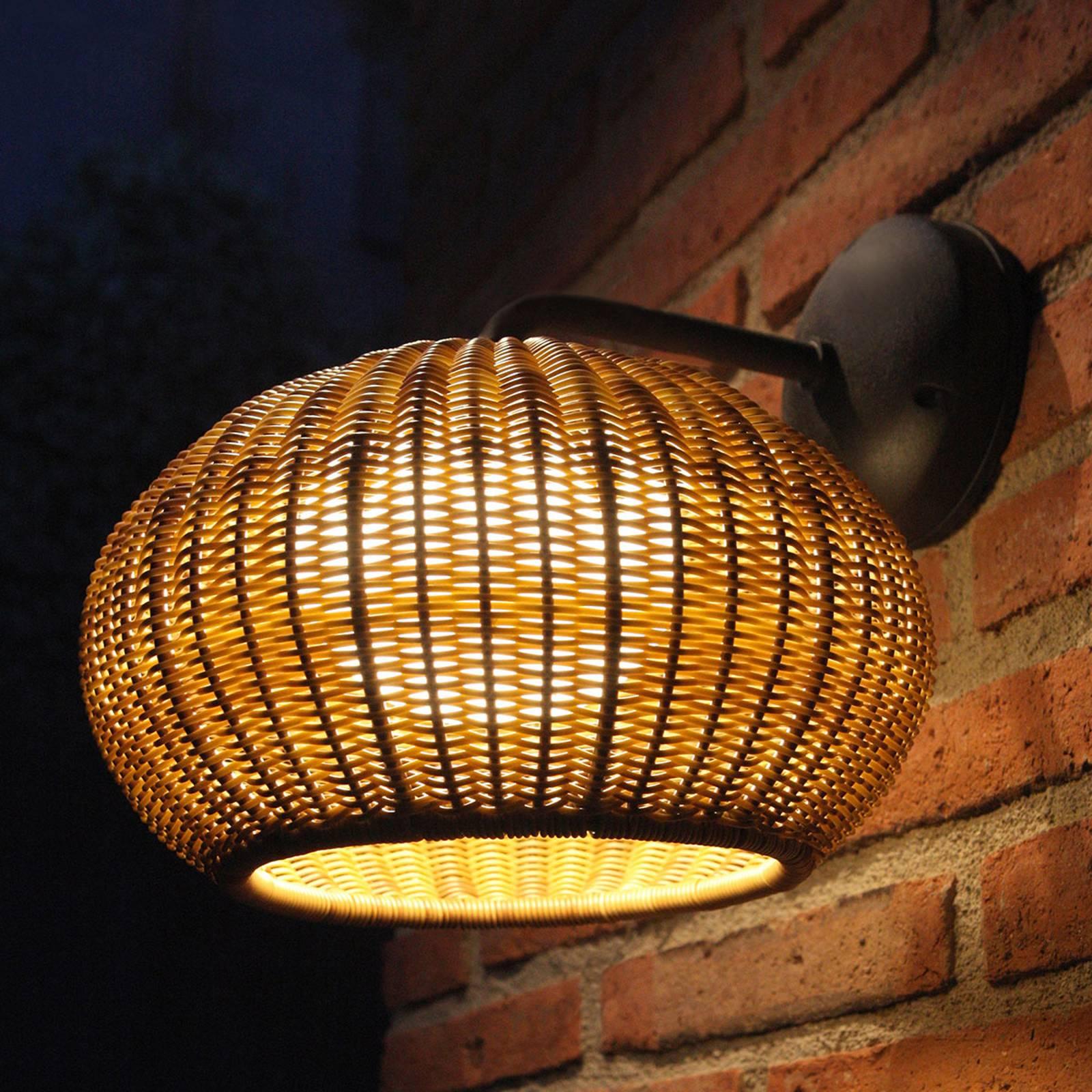 Bover Garota A/01 LED buitenwandlamp grafiet-bruin