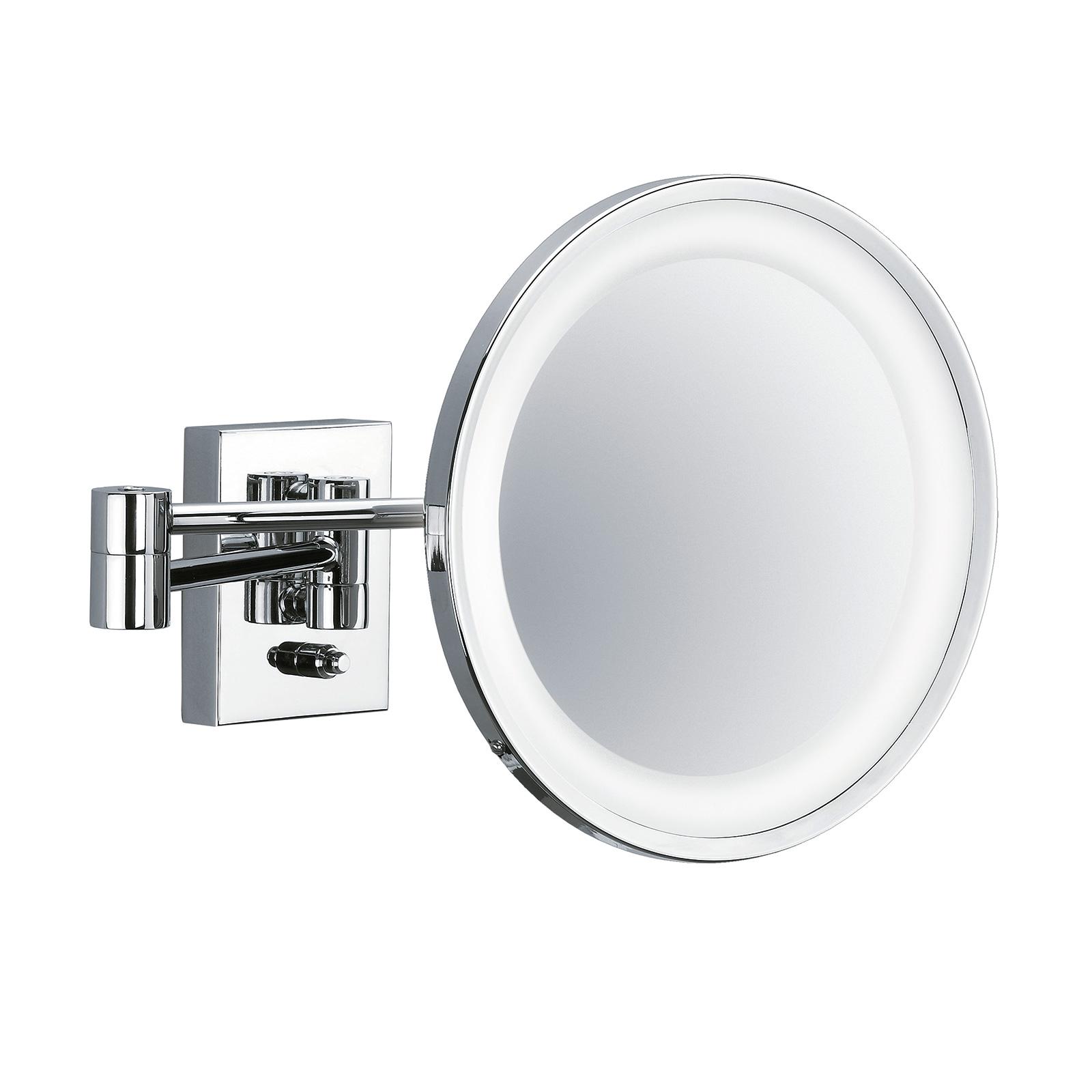 POINT - specchio cosmetico da parete, cromo