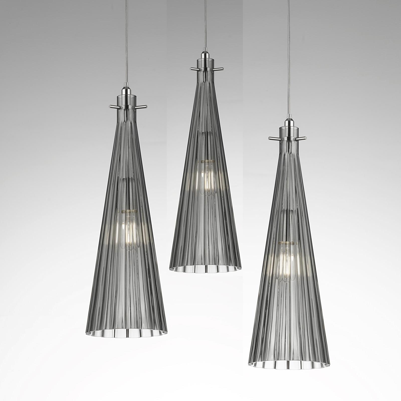 Hanglamp Costa Rica, 3-lamps, grijs