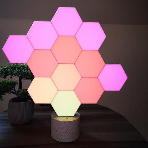 Cololight dekorlampe Stone sett 6 lys, steinsokkel