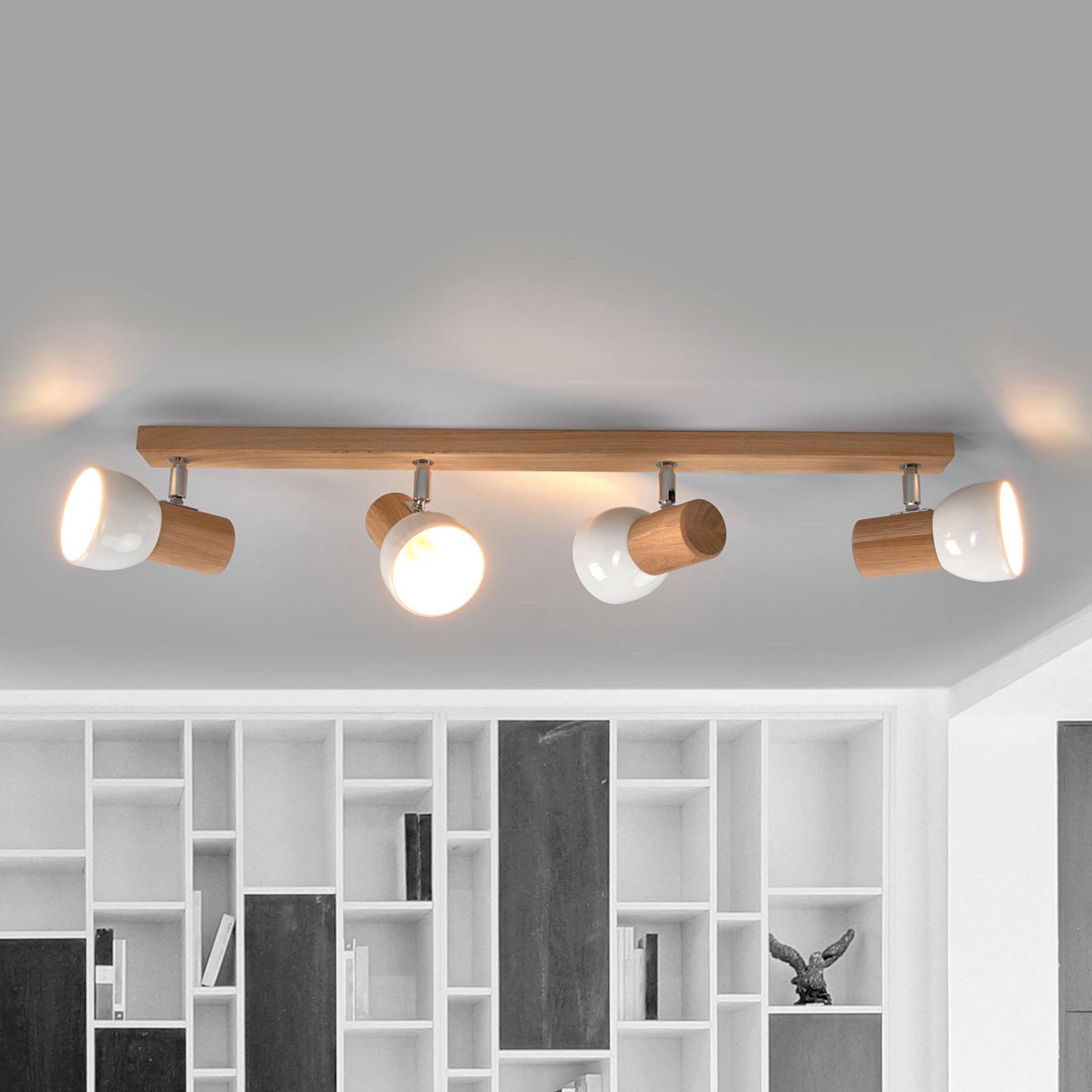 De-sign Lights Lampada Da Soffitto Svenda Legno//cromo//Bianco
