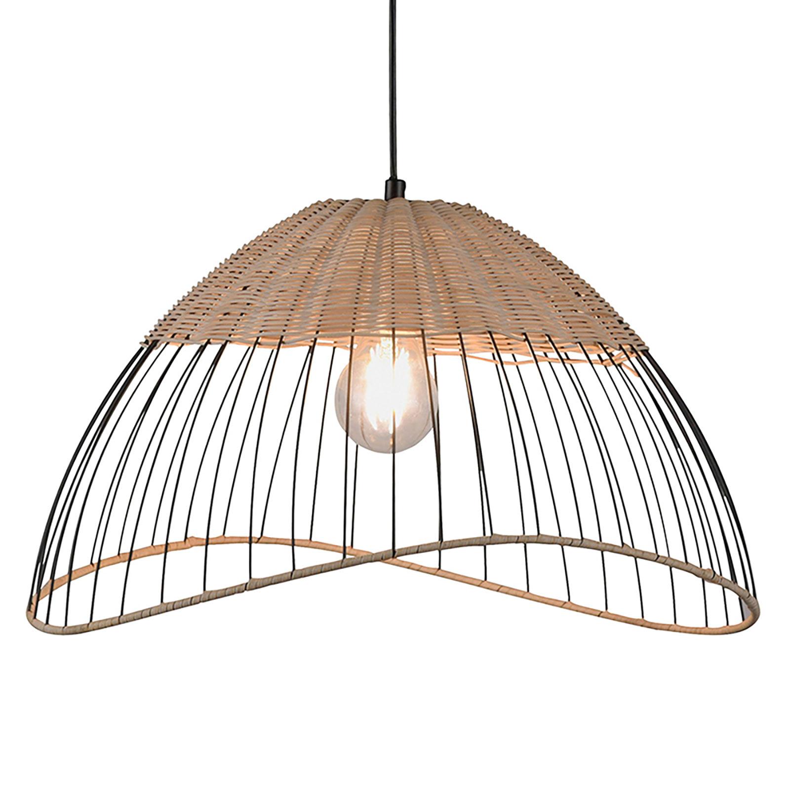 Lampa wisząca Reed z kloszem w formie półkuli