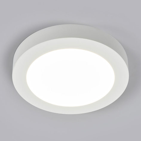 Plafonnier LED Marlo blanc 4000K rond 25,2cm