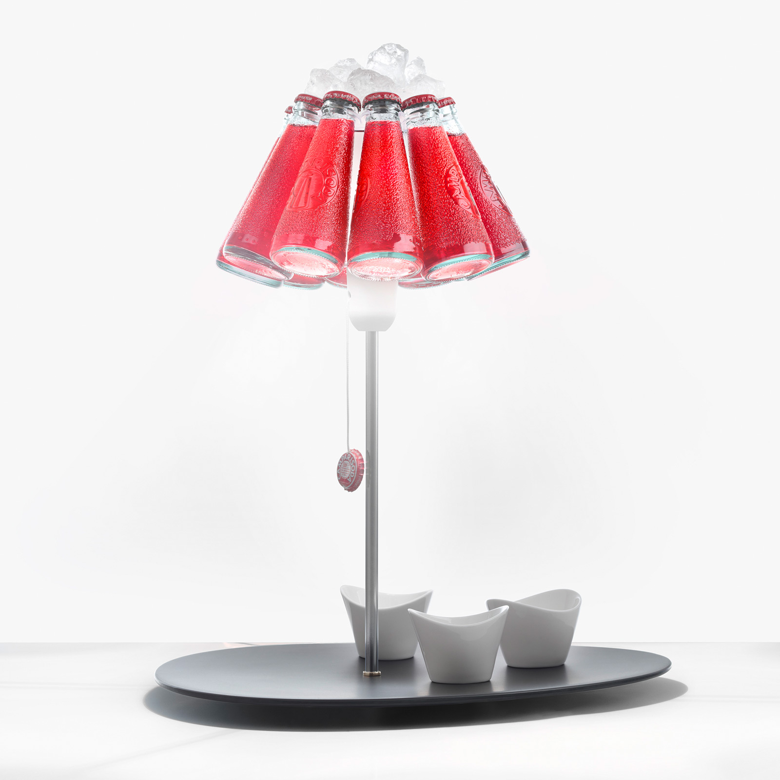 Ingo Maurer Campari Bar lampe à poser bouteilles