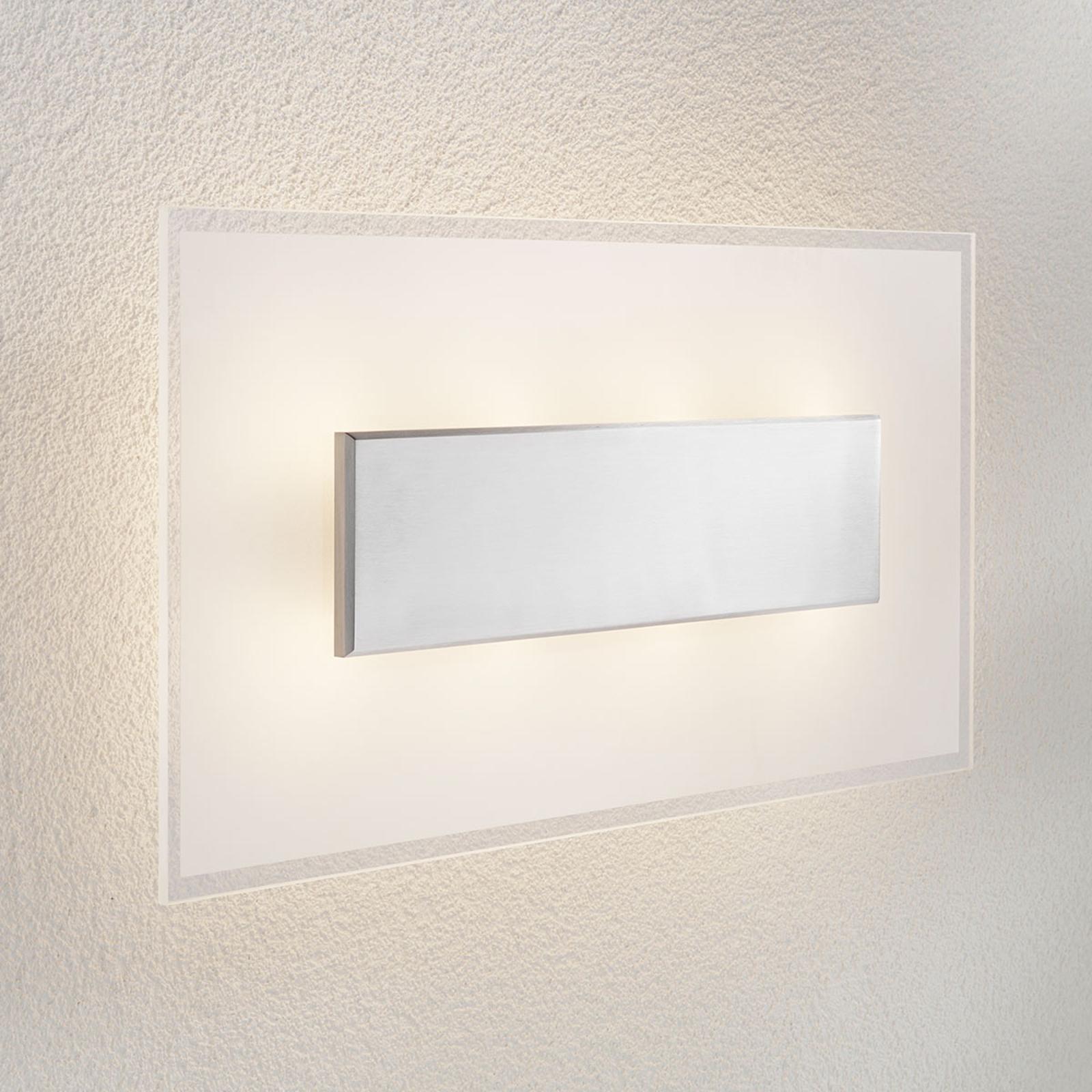 LED-vegglampe Lole med glass-skjerm, 59 x 29 cm