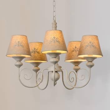 Lámpara colgante Robin, lámpara de araña 5 luces