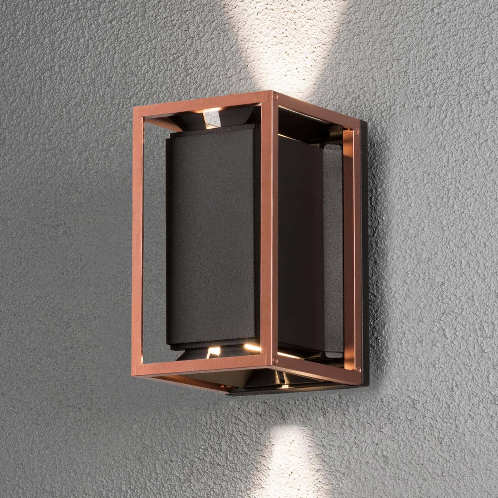Moderne LED wandlamp Vale, handgemaakt