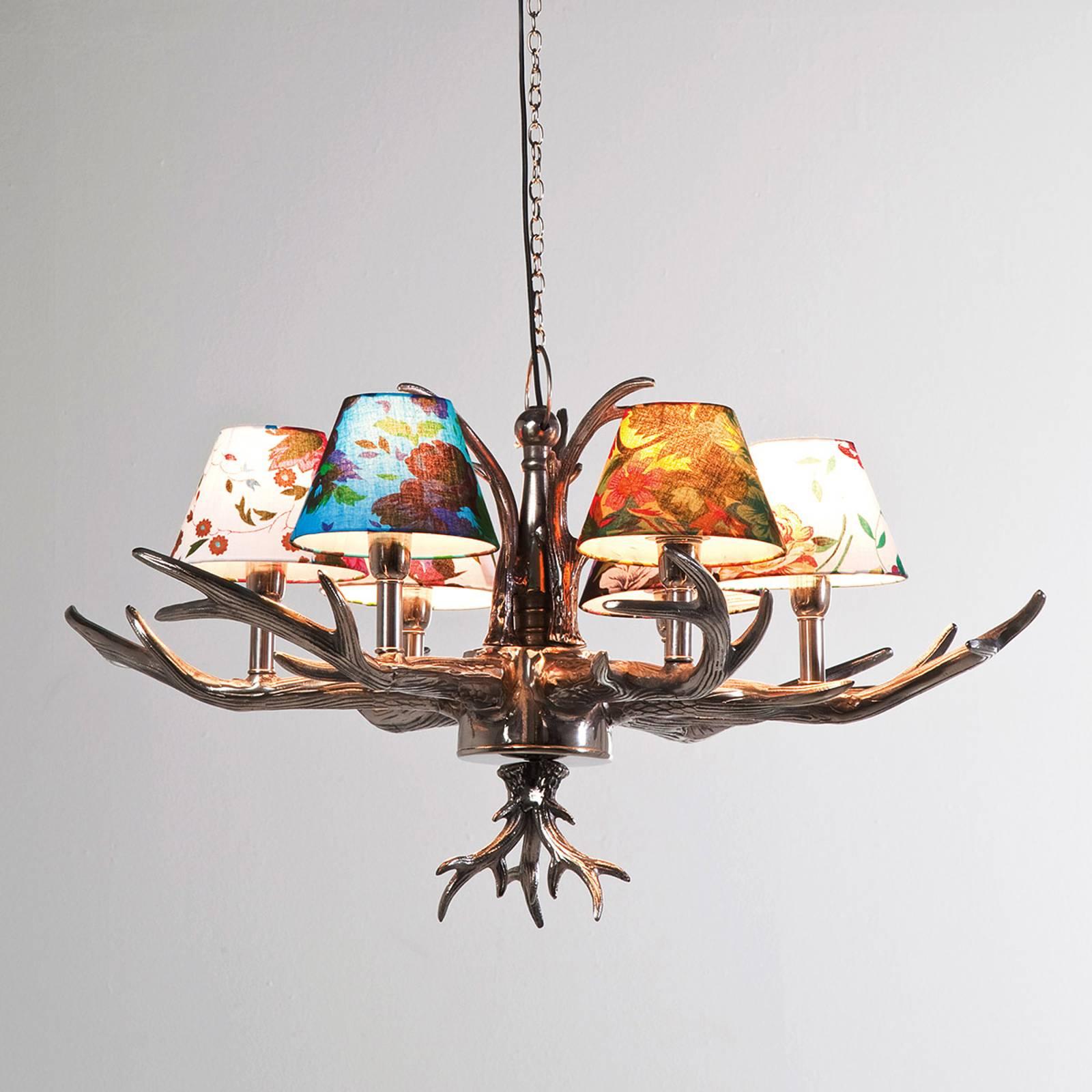 KARE Antler Flowers - lampa wisząca kolorowa