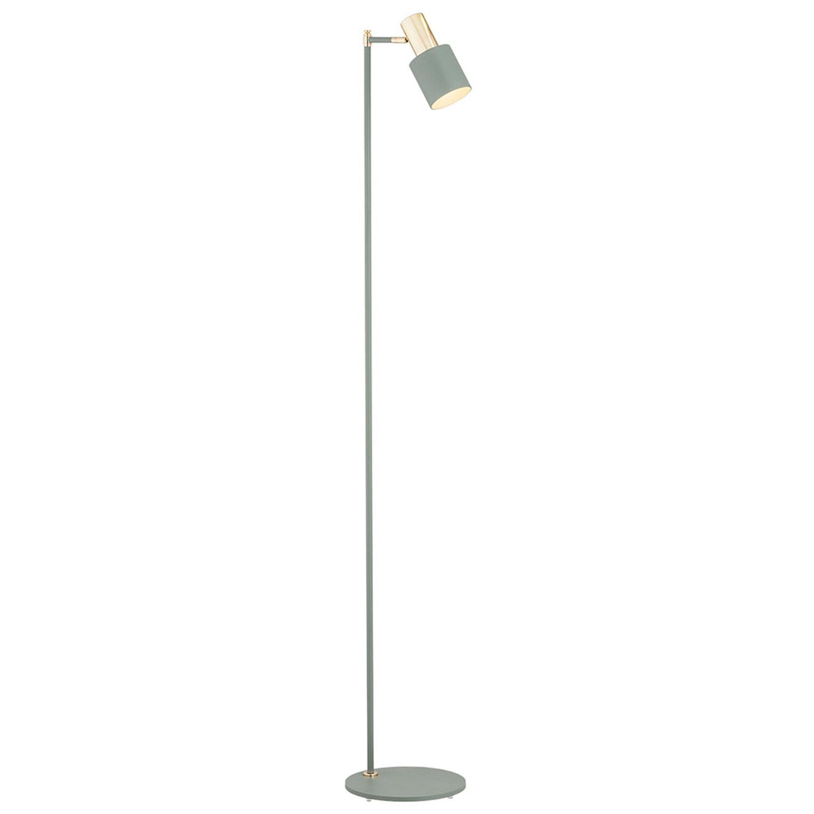 Destin standerlampe, justerbar, grøn/messing