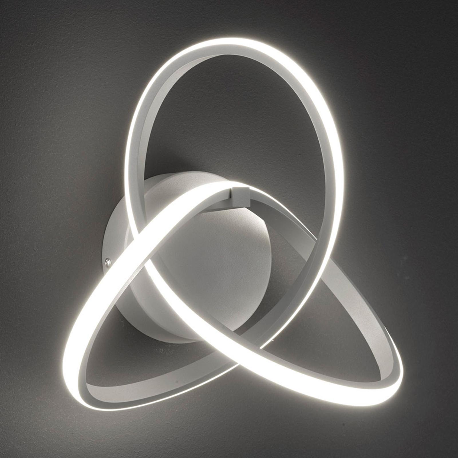 LED-vegglampe Indigo, antrasitt