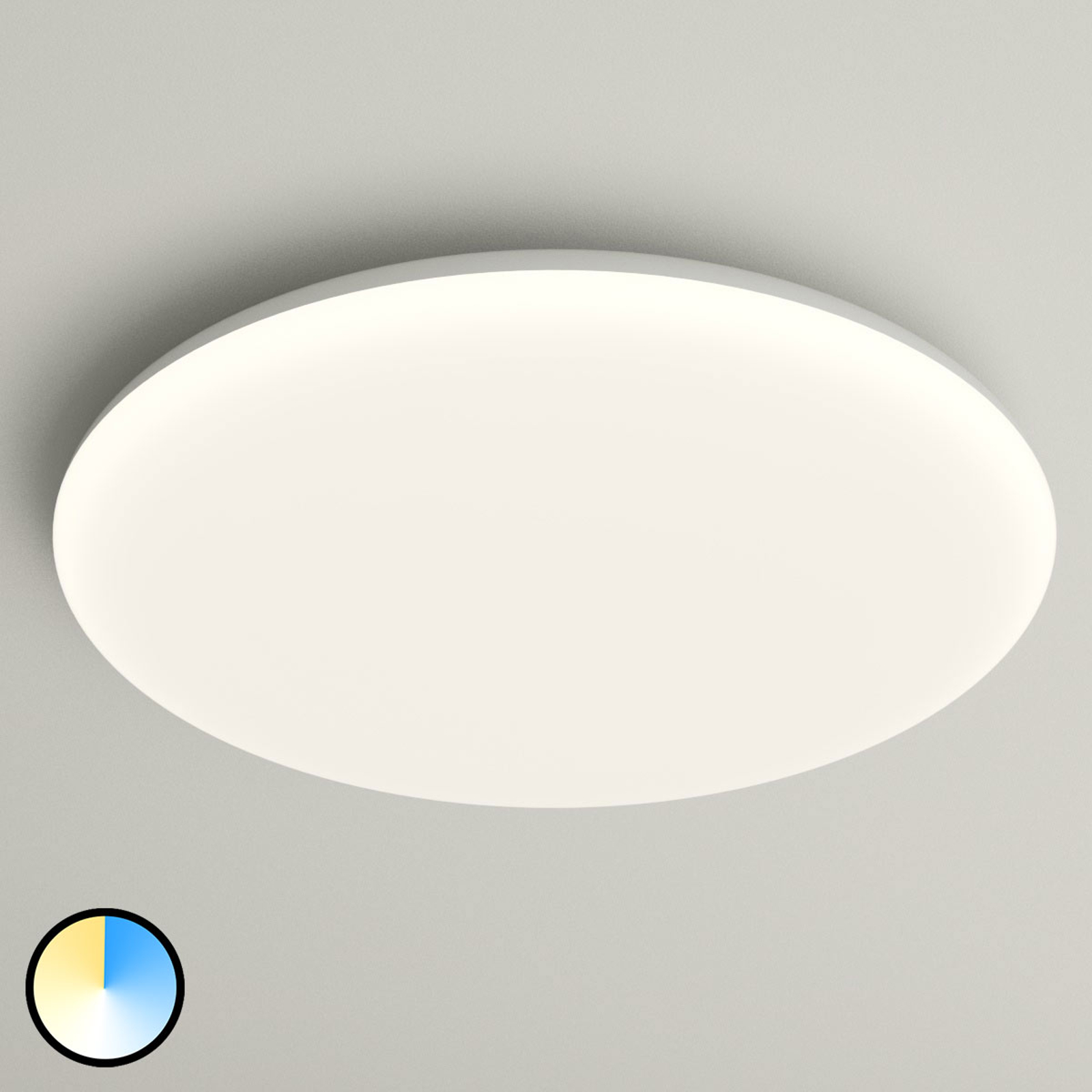 LED plafondlamp Azra, wit, rond, IP54, Ø 40 cm