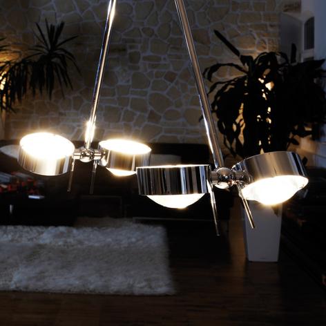 Závěsné světlo PUK CEILING; 4zdrojové