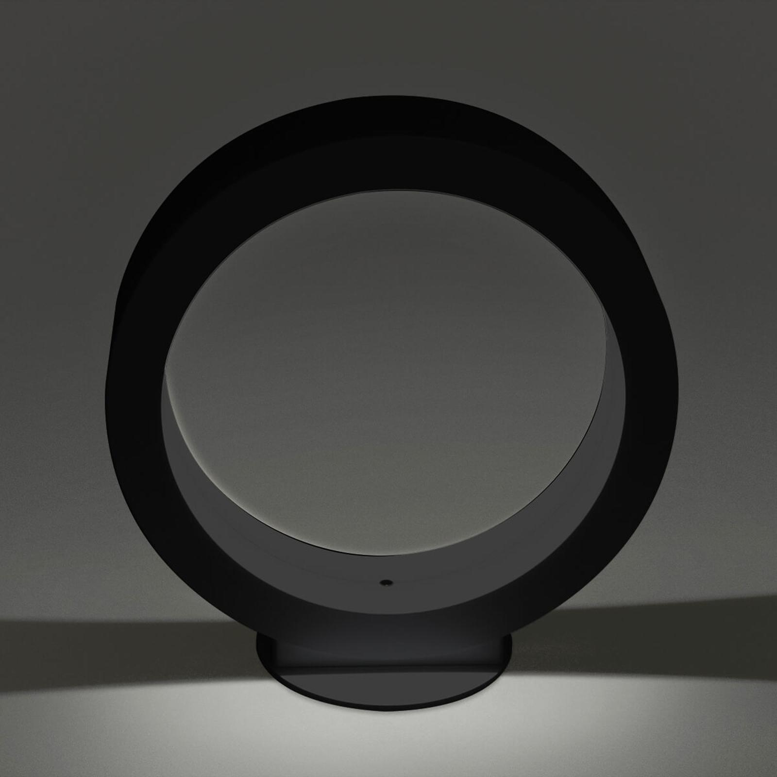 Ściemniana lampa stołowa LED Assolo, czarna, 20 cm