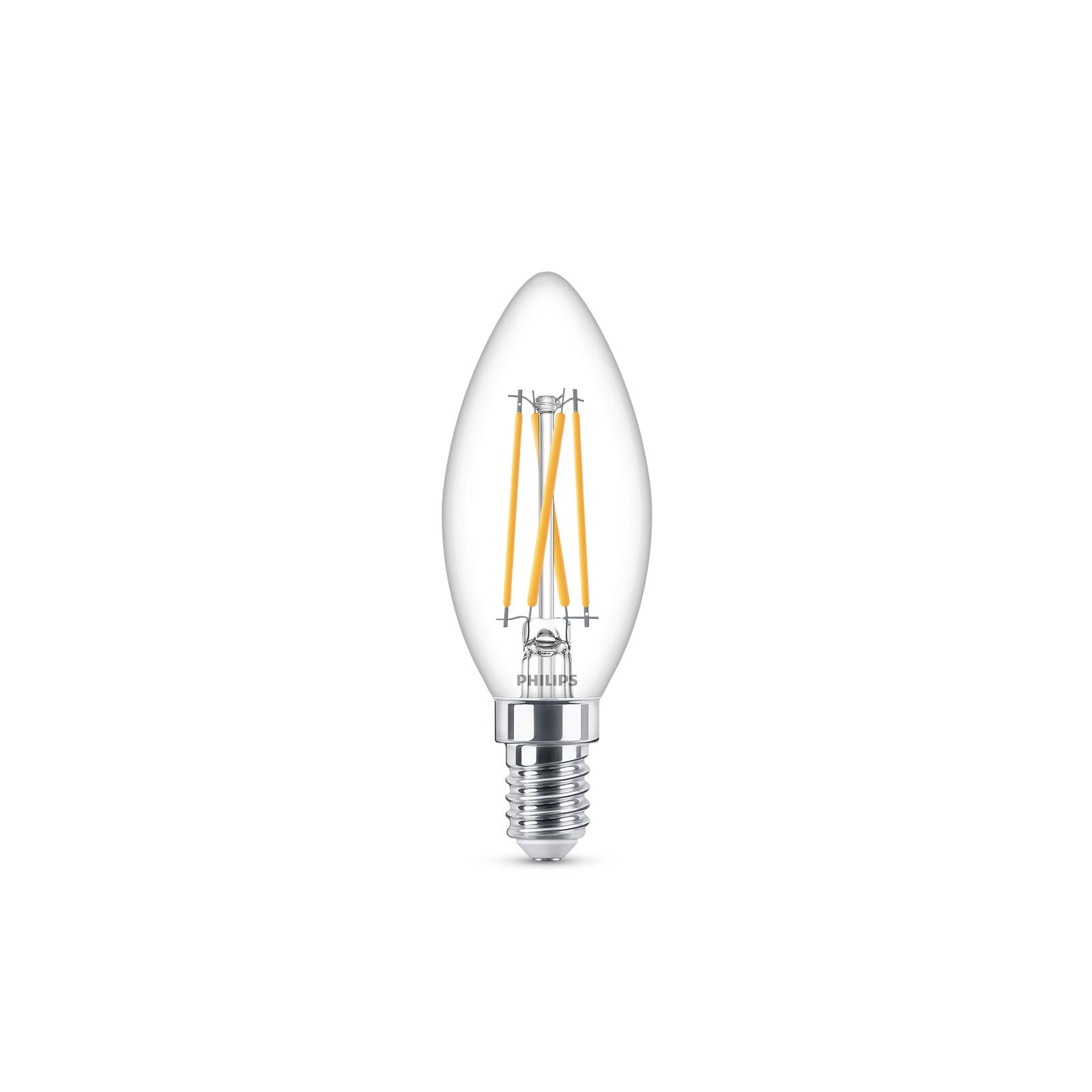 Philips LED-Kerzenlampe E14 2W 827 WarmGlow
