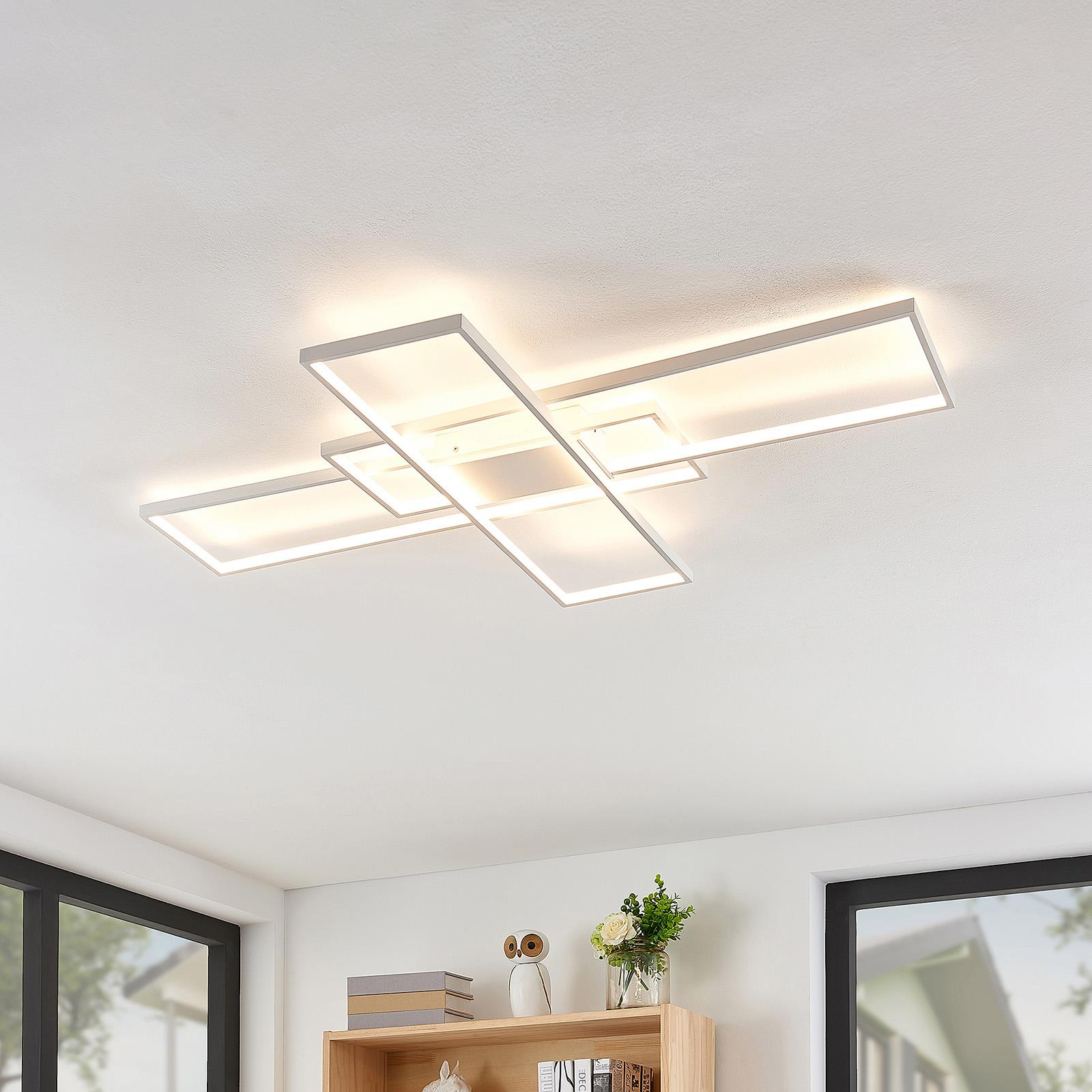 Lindby LED stropní světlo Tomke v bílé, stmívat.