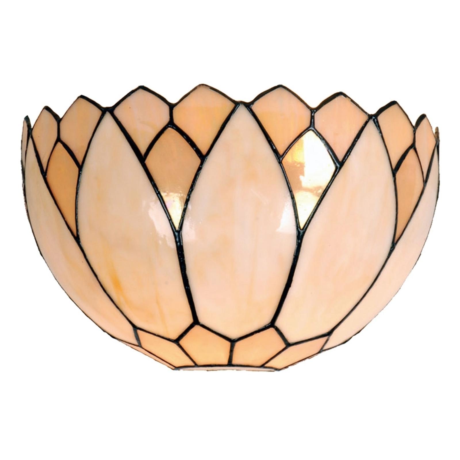 Lampada da parete Liliana in stile Tiffany
