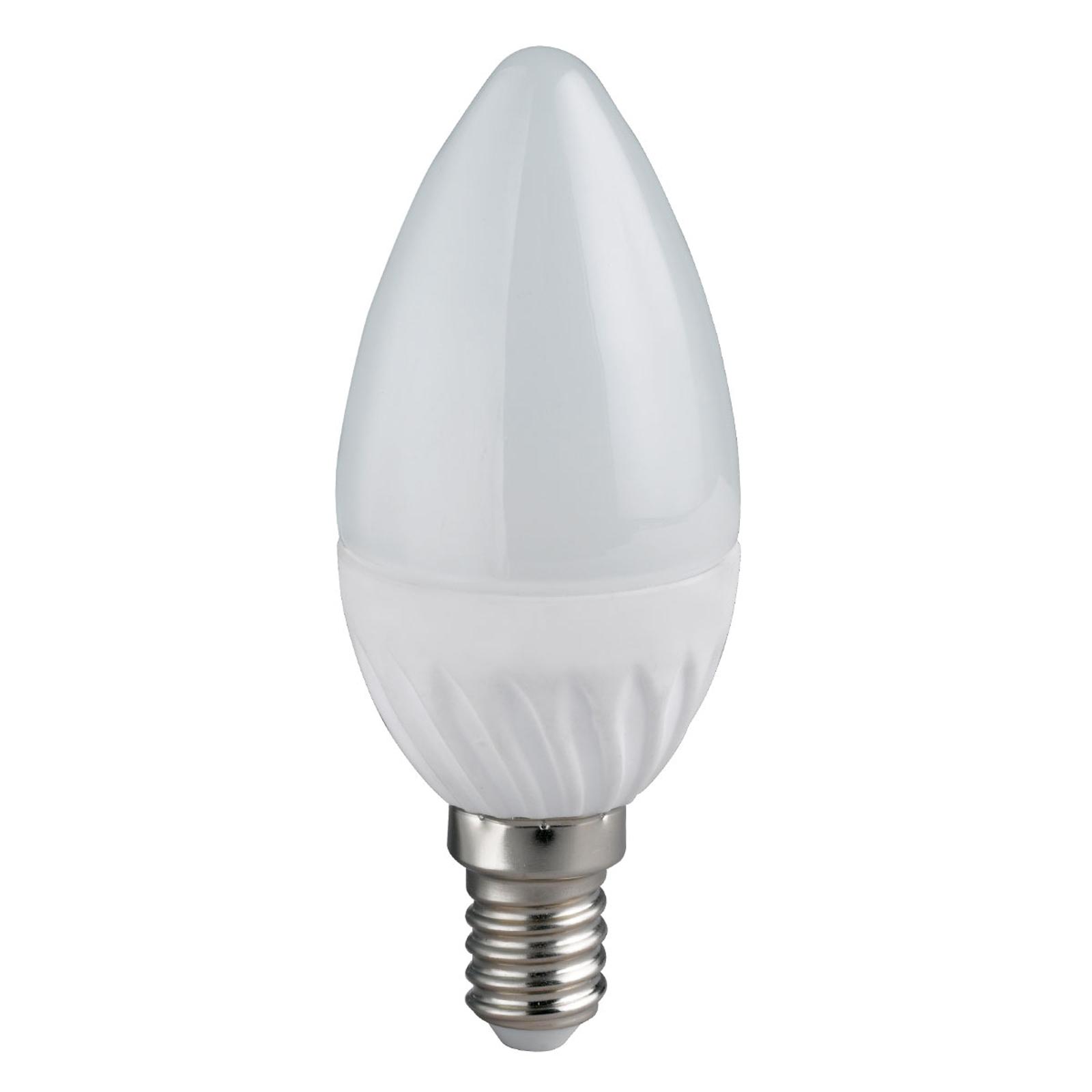 Żarówka świeczka LED E14 5W, ciepła biel