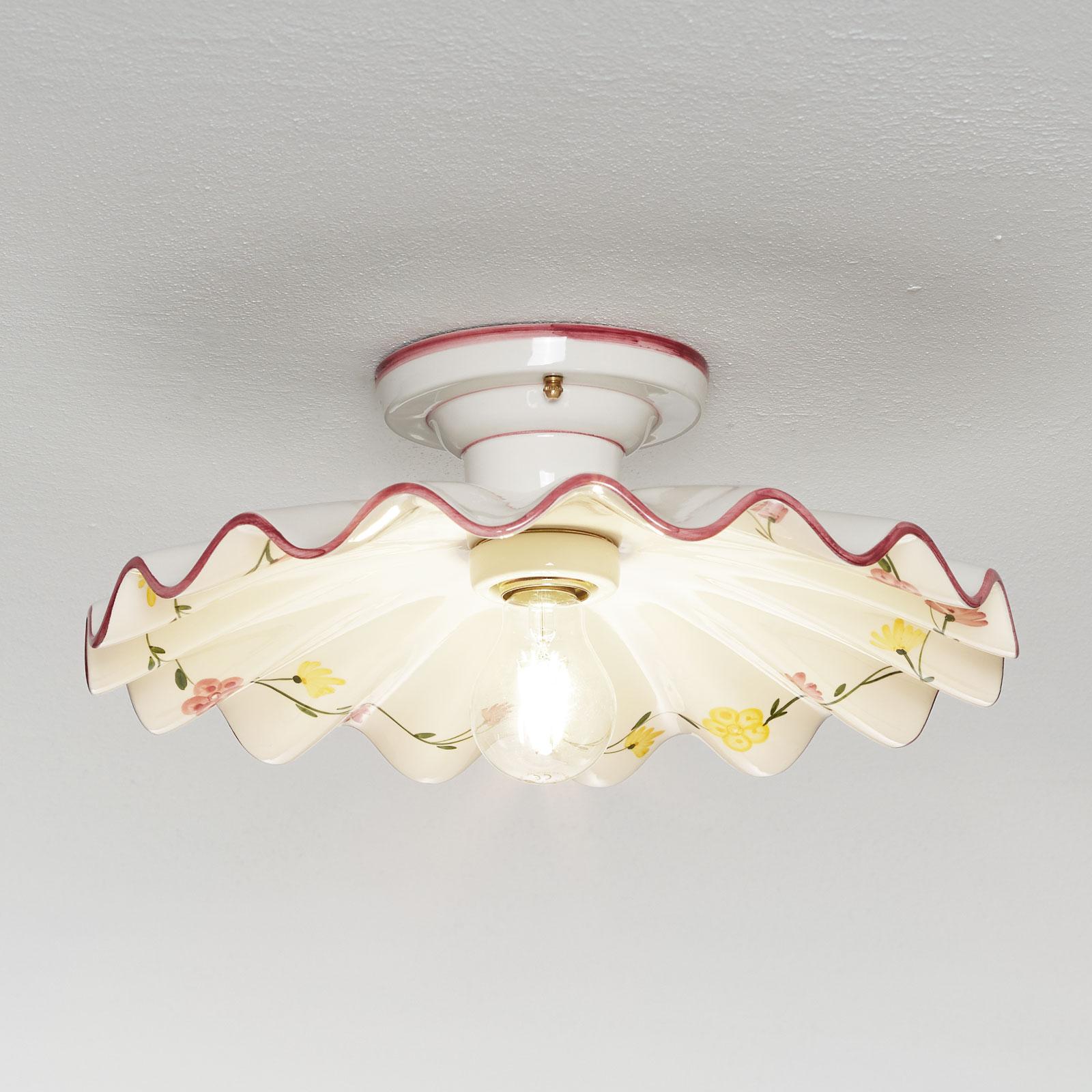 Plafondlamp Ametista van keramiek met tussenruimte