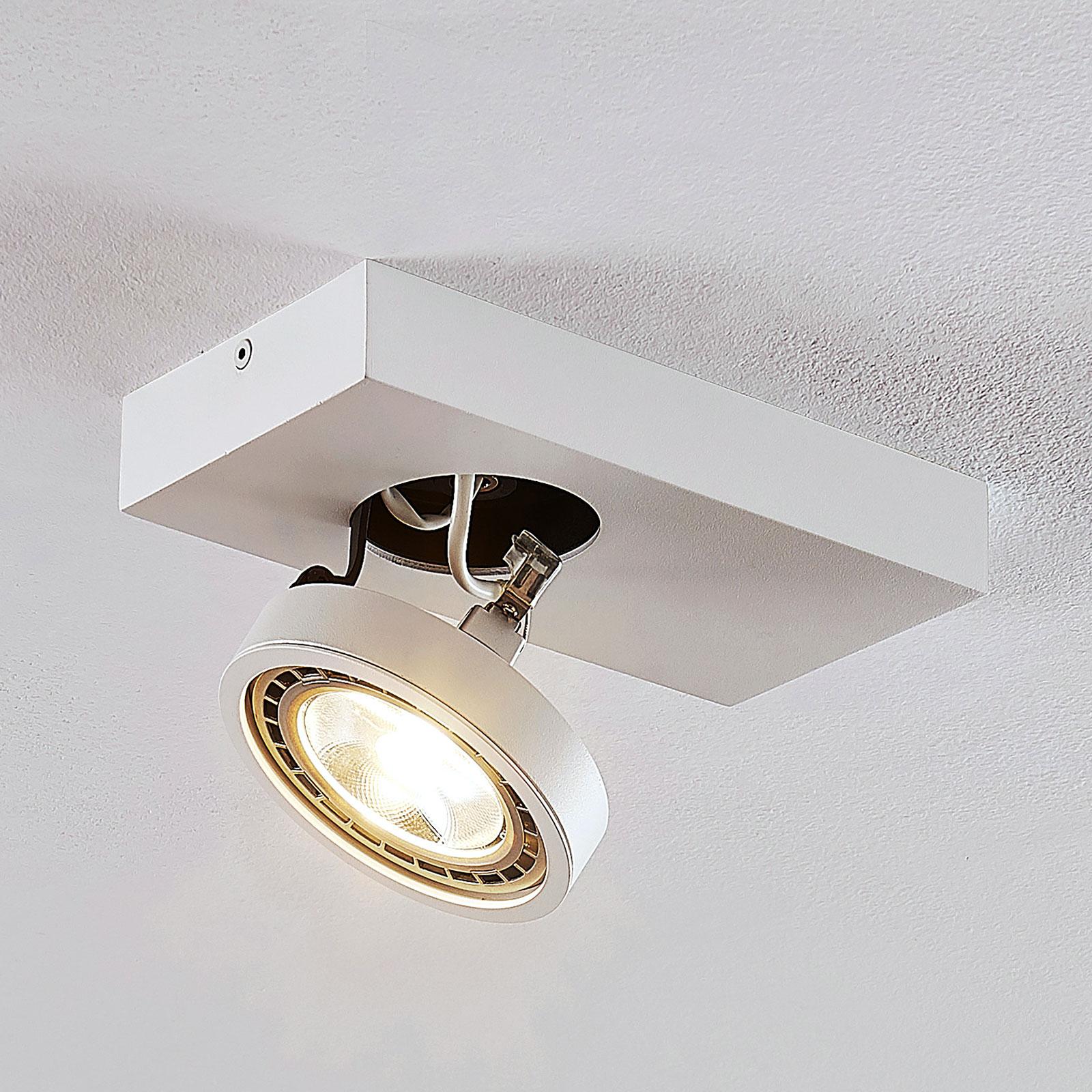Lampa sufitowa LED Negan biała, 1-punktowa