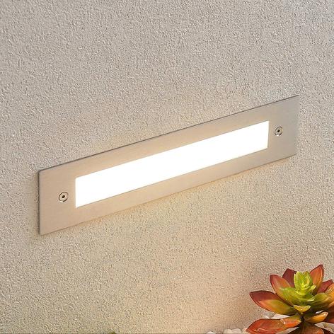 Applique a LED da incasso Roni in acciaio, 27 cm