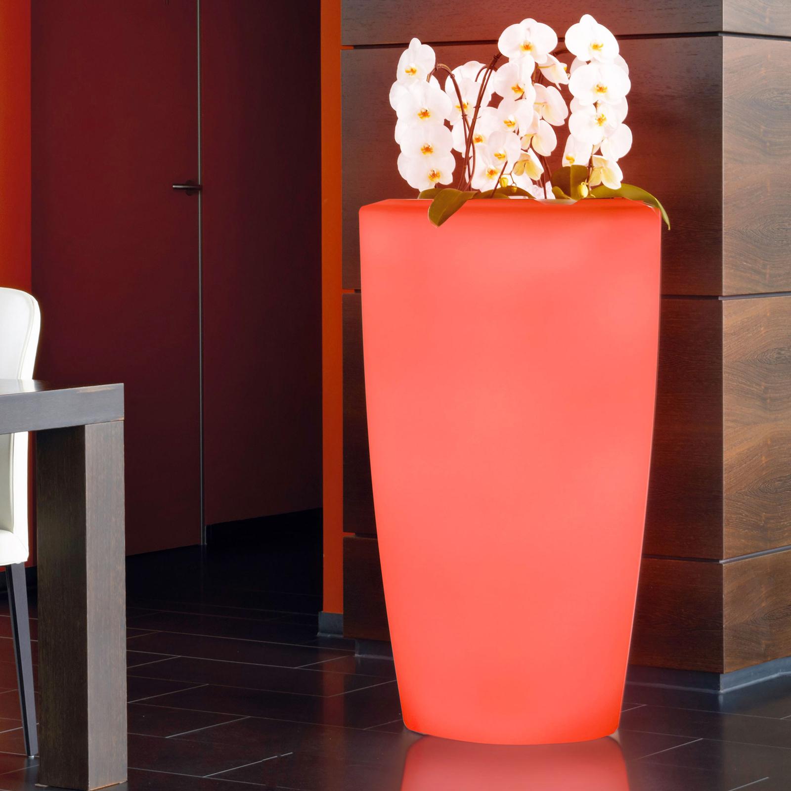 Lampa dekoracyjna Rovio IV donica RGB biała