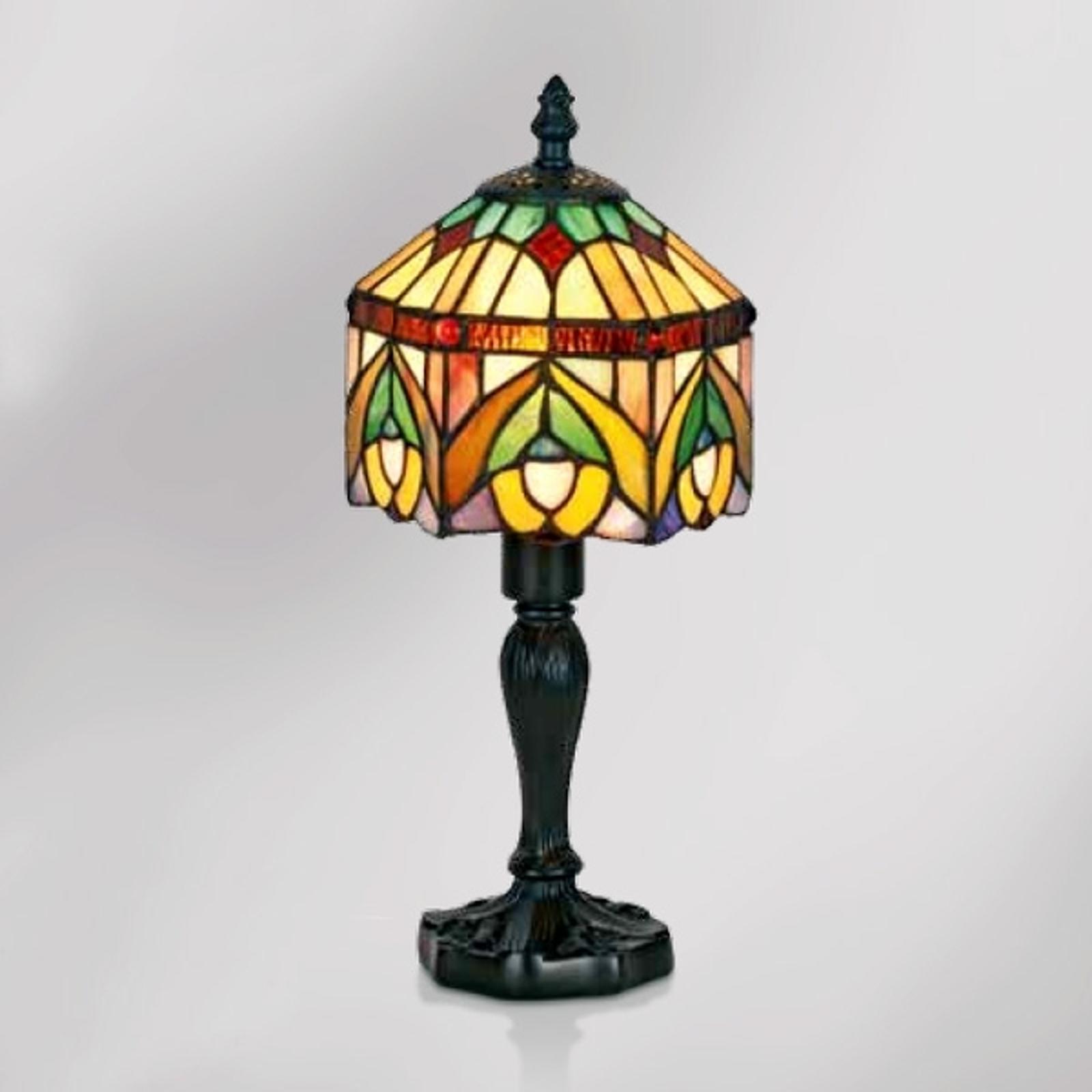Dekorativ bordslampa Jamilia i tiffanystil