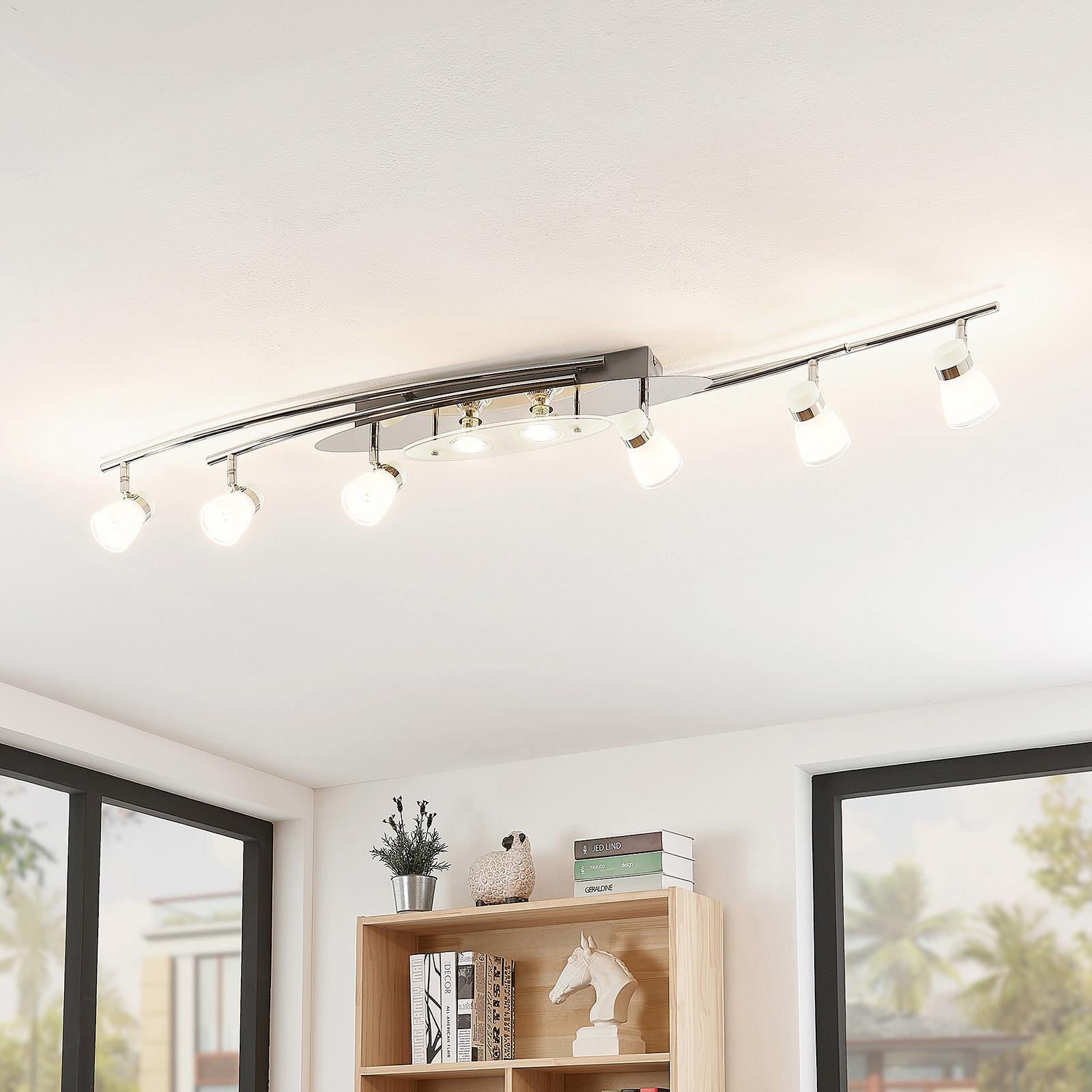 Lindby Danil LED-Deckenstrahler mit Glasschirmen